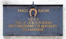 Pamětní deska T. G. Masaryka